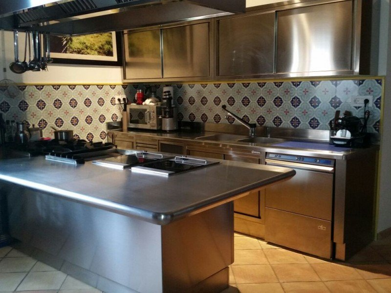 Our professional kitchen, where the magic of creating great Italian dishes happens - Italy Cooking Classes