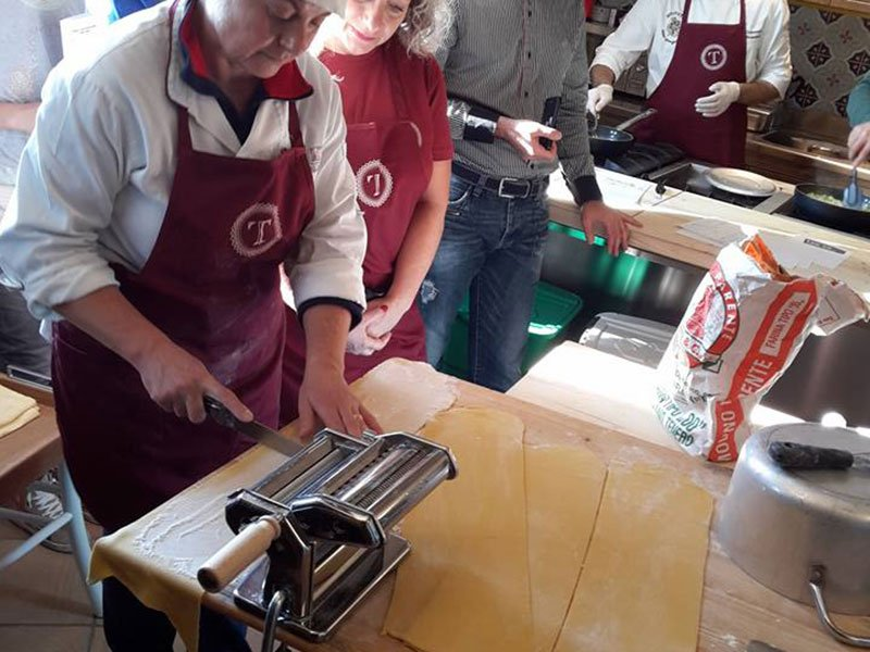 Making of the best Italian Pasta at our Cooking School - Culinary Holiday in Italy