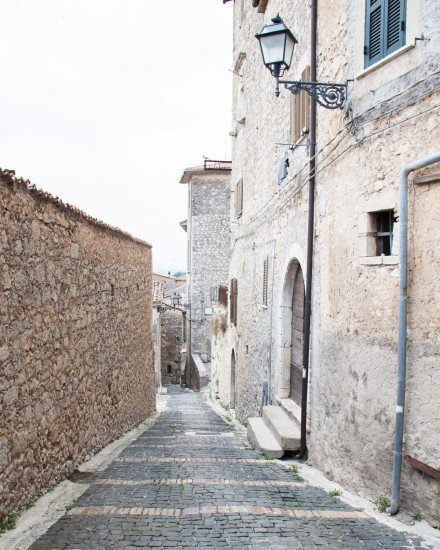 Old village culinary tour in Italy - The alleys around the corner of our historical Palazzo