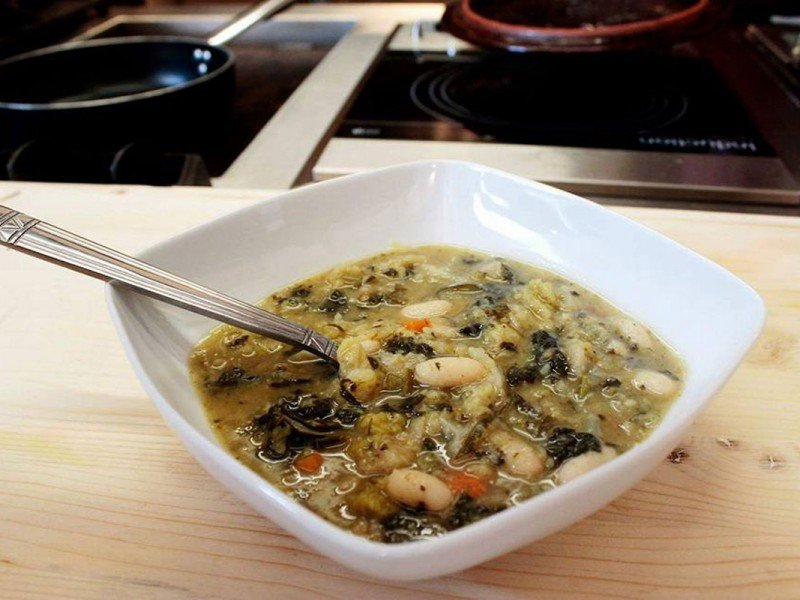 A tasty home-made soup made with organic vegetables - Italy Cooking Classes